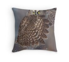 The Caped Crusader - Great Gray Owl. Throw Pillow