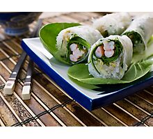 Spring Rolls Photographic Print