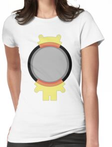 Hoverboard Yellow Radiation Suit Womens Fitted T-Shirt