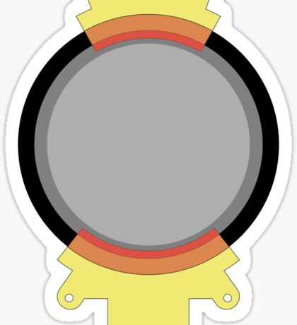 Hoverboard Yellow Radiation Suit Sticker