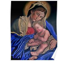 Mary with baby Jesus sleeping Poster
