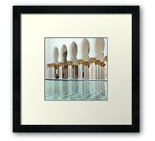 Reflective pools for reflection Framed Print