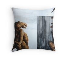 Horn Lake: Medallion (Large Scale Acrylic) Throw Pillow