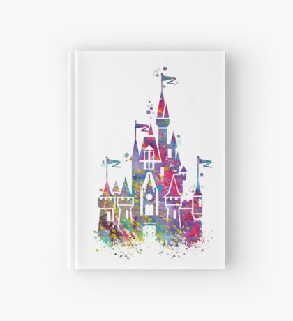 Princess Castle Watercolor Hardcover Journal
