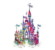 Princess Castle Watercolor Photographic Print