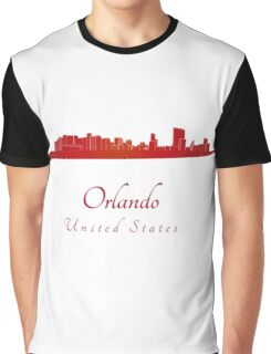 Orlando skyline in red Graphic T-Shirt