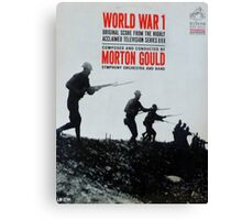 World War 1, WWI, TV Series Soundtrack album cover Canvas Print