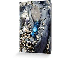 Turquoise Mermaid keychain Greeting Card