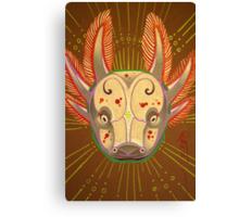 axolotl, amphibian totem art. Canvas Print