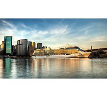 Celebrity Solstice Cruise on Sydney Harbour Photographic Print