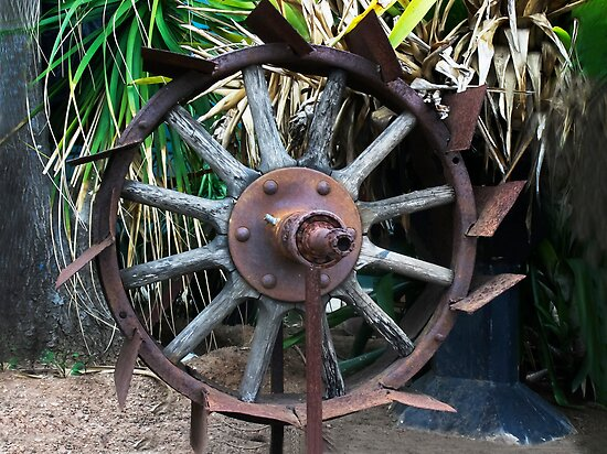 Rusty Wheel  by heatherfriedman