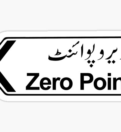 Zero Point, Islamabad, Pakistan Sticker