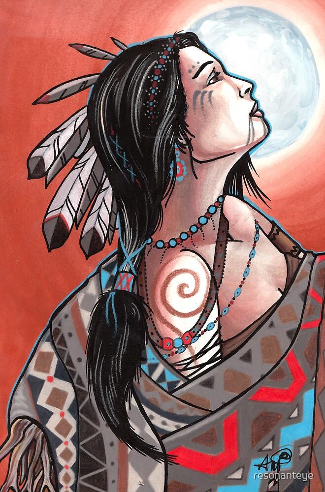 native moon maiden by resonanteye