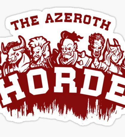 Team Horde  Sticker