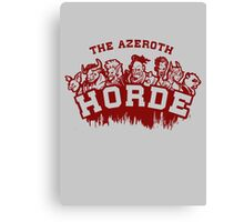 Team Horde  Canvas Print