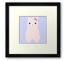 Alpaca in love Framed Print