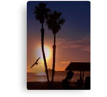 Another Sunset on the Ocean Canvas Print