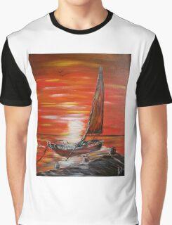 Fishing Boat Graphic T-Shirt