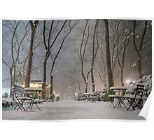Winter Wonderland - Bryant Park - New York City Poster