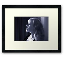 tis me (self portrait) Framed Print