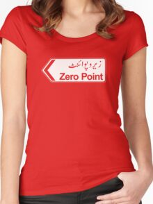 Zero Point, Islamabad, Pakistan - Contrast Version Women's Fitted Scoop T-Shirt