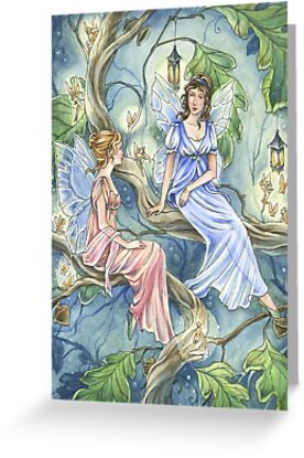 Regency Fairies Gossiping by meredithdillman