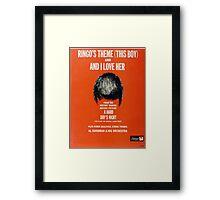 Ringo's Theme And I Love Her Framed Print