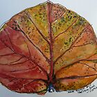 Leaf. Nha Trang Vietnam. Pen and wash 2013 by Elizabeth Moore Golding