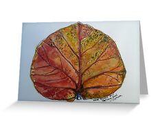 Leaf. Nha Trang Vietnam. Pen and wash 2013Ⓒ Greeting Card