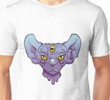 Three Eyed Sphinx In Blue Unisex T-Shirt