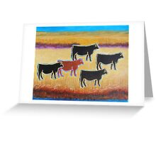 Red Angus Greeting Card