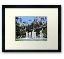 Revolution at Six Flags Magic Mountain Framed Print