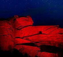 Crazy Horse Memorial Laser-Light Show by Alex Preiss