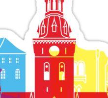 Oslo skyline pop Sticker