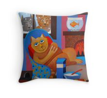 WHAT CATS ? Throw Pillow