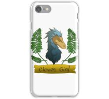 blue clever girl iPhone Case/Skin