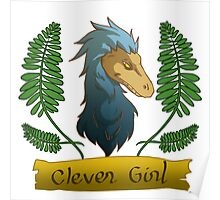 blue clever girl Poster