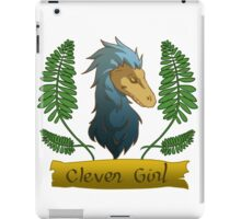 blue clever girl iPad Case/Skin