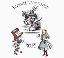 Alice in Wonderland Independence for Scotland T-Shirt by simpsonvisuals