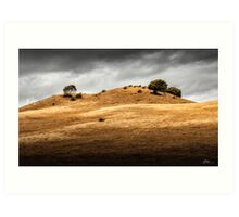 Sunburnt Hills Art Print