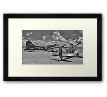 """Sally B"" and Spitfire - Duxford Flying Legends 2012 Framed Print"