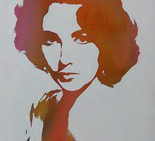 Technicolour Elizabeth Taylor by Gary Hogben