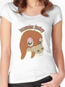 Insomniac donkey Women's Fitted Scoop T-Shirt