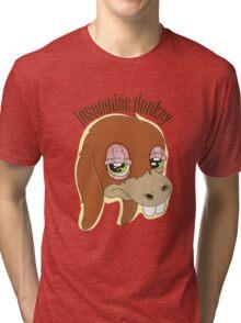 Insomniac donkey Tri-blend T-Shirt