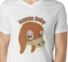 Insomniac donkey Mens V-Neck T-Shirt