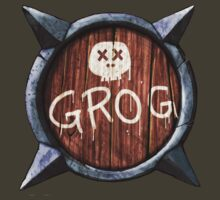 Spiked Shield with Grog and Skull Logo AAARG! by astralsid