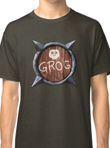 Spiked Shield with Grog and Skull Logo AAARG! Classic T-Shirt