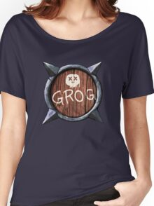 Spiked Shield with Grog and Skull Logo AAARG! Women's Relaxed Fit T-Shirt