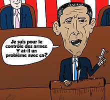 caricature d'Obama addresser le Congres by Binary-Options