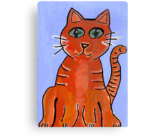 Friendly Cat Canvas Print